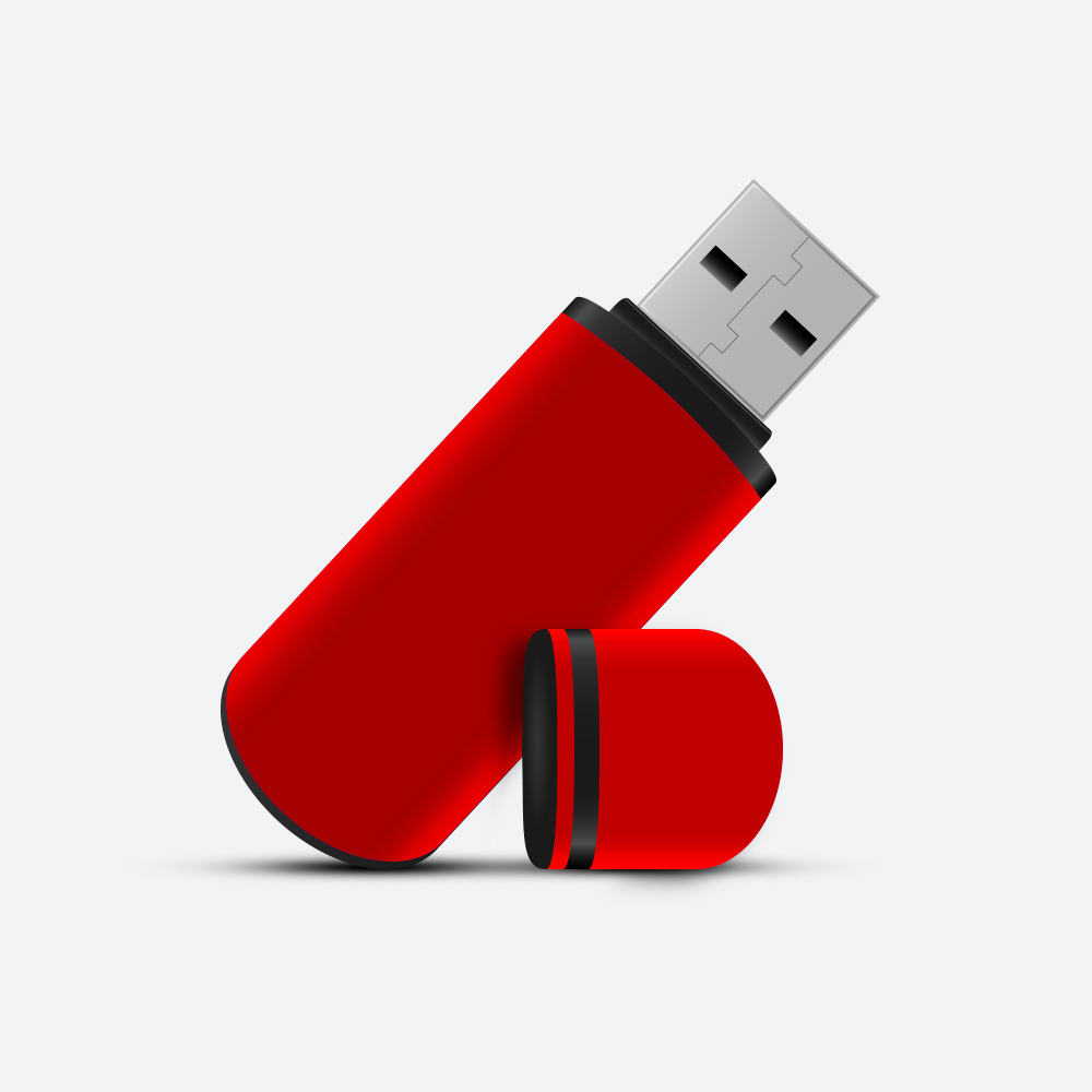 100k USB Dongle - Red - MicroLight